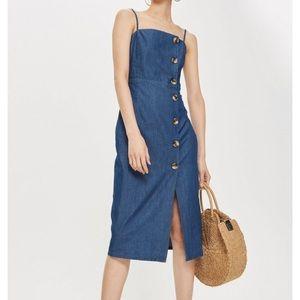 ✨NWT Topshop Horn Button Midi Dress
